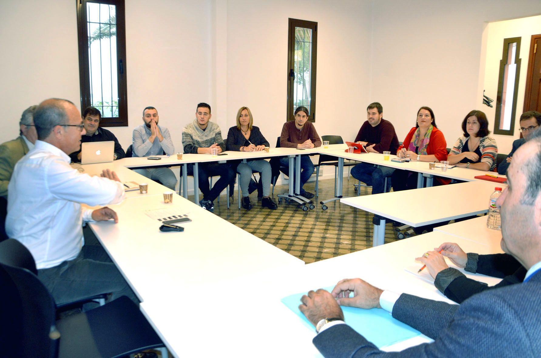 Moment de la reunió celebrada al Parc Taulí