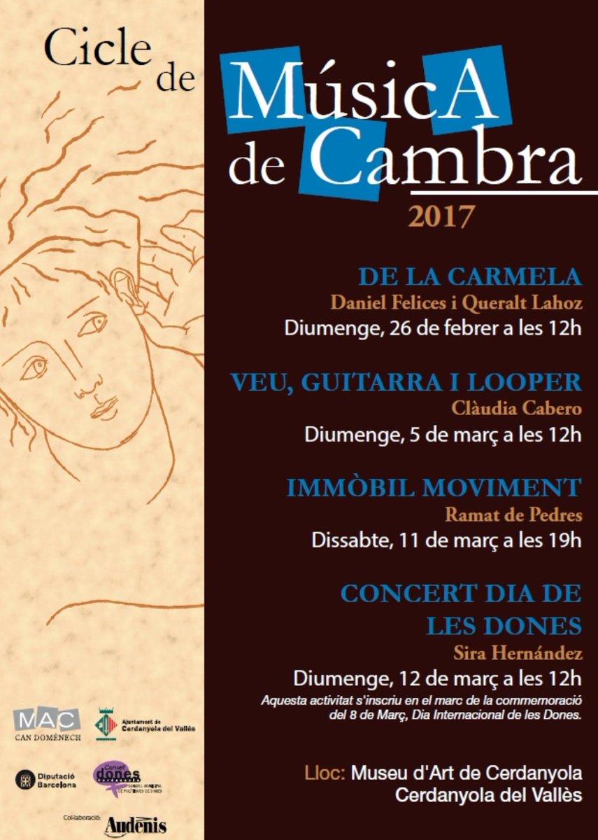 Nou cicle de Música de Cambra al museu d'Art de Cerdanyola