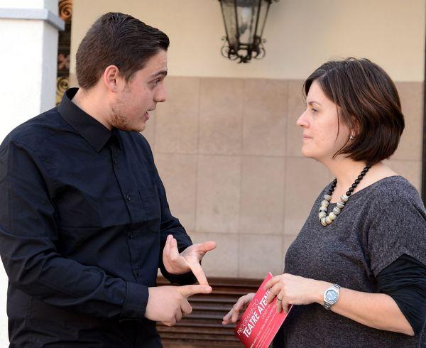 Marçal Grinyó, president Agrupació Sardanista, i Elvi Vila, regidora de Cultura