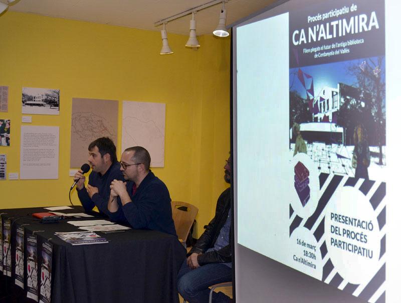 L'alcalde Carles Escolà i el regidor de transparència i bon govern, Maurici Jaumandreu, durant l'acte