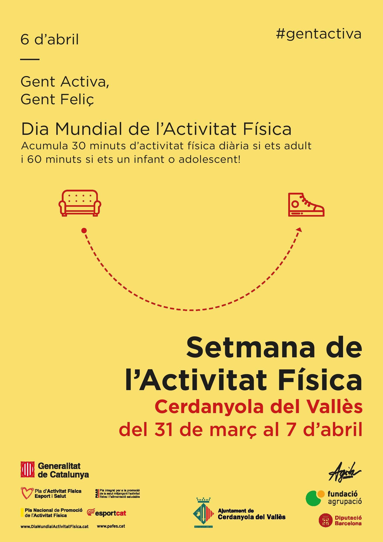 Cartell de la Setmana de l'Activitat Física a Cerdanyola del Vallès