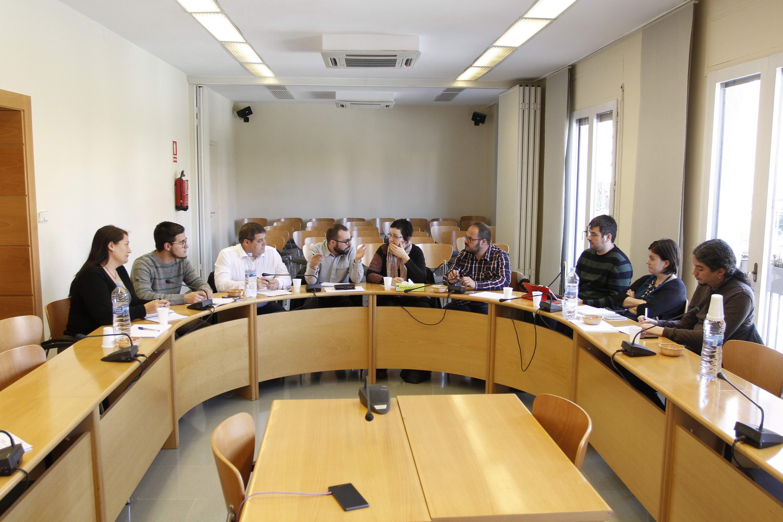 Vista de la reunió de treball dels representants dels Ajuntaments