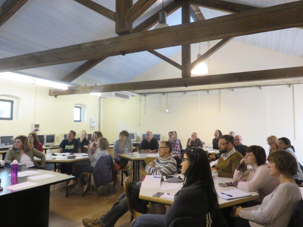 Un moment de la sessió dedicada a l'emprenedoria social celebrada a Barberà del Vallès