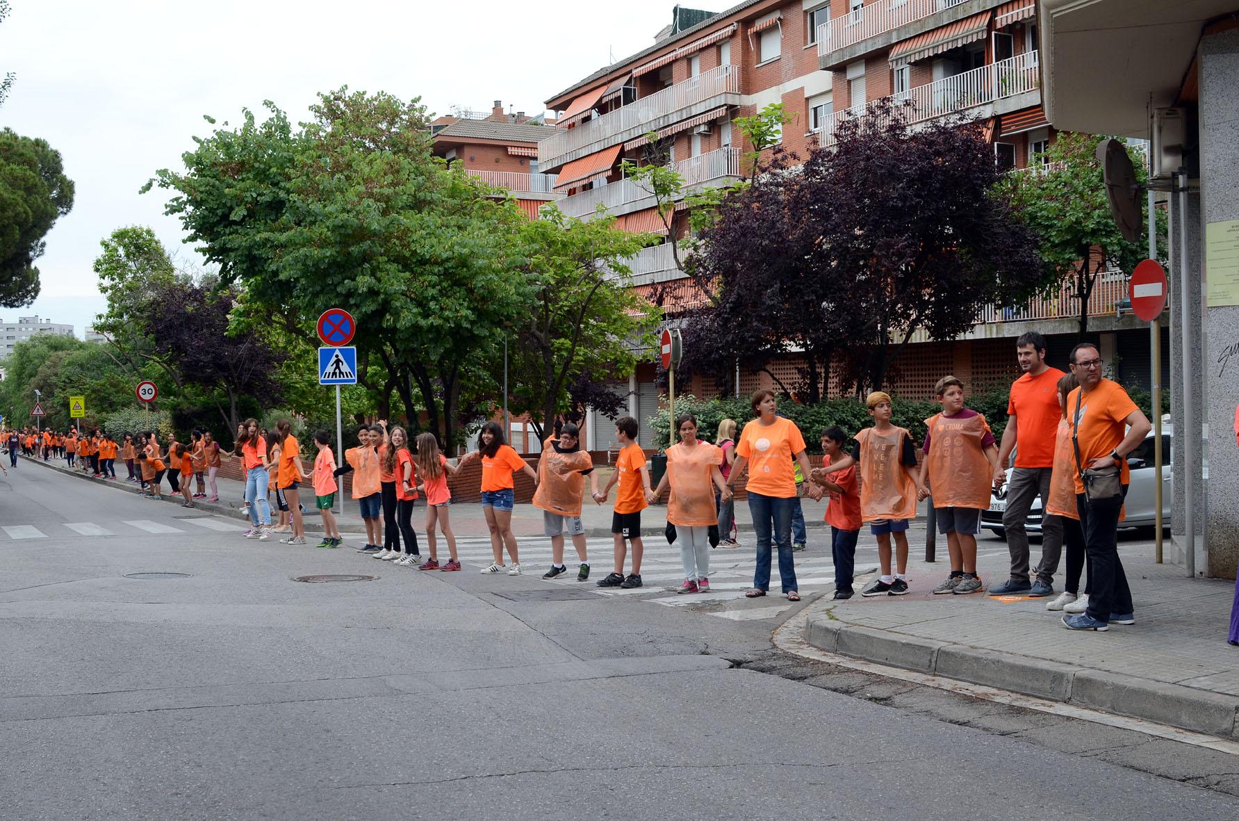 L'alcalde, Carles Escolà, junt amb les regidores Elvi Vila i Contxi Haro, va participar a la via