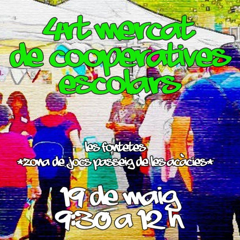 Cartell del mercat de les cooperatives escolars