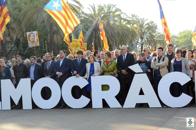 Moment de la concentració de suport. Amb la participació de Carles Escolà i Elvi Vila.