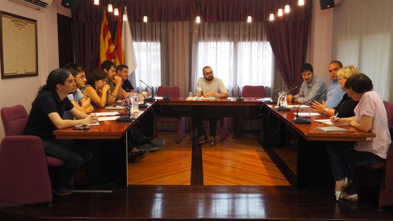 Moment de la 5a reunió dels ajuntaments de l'àrea d'influència del Parc Taulí