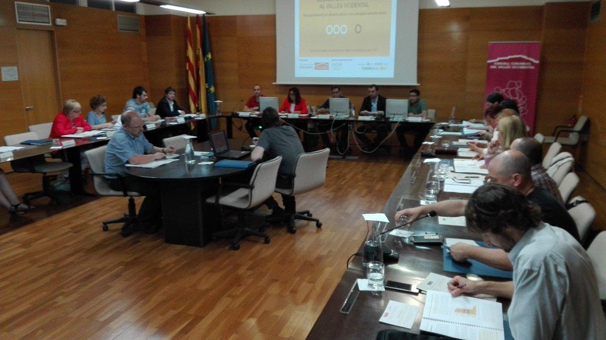 Vista de la sala on s'ha dut a terme el Consell