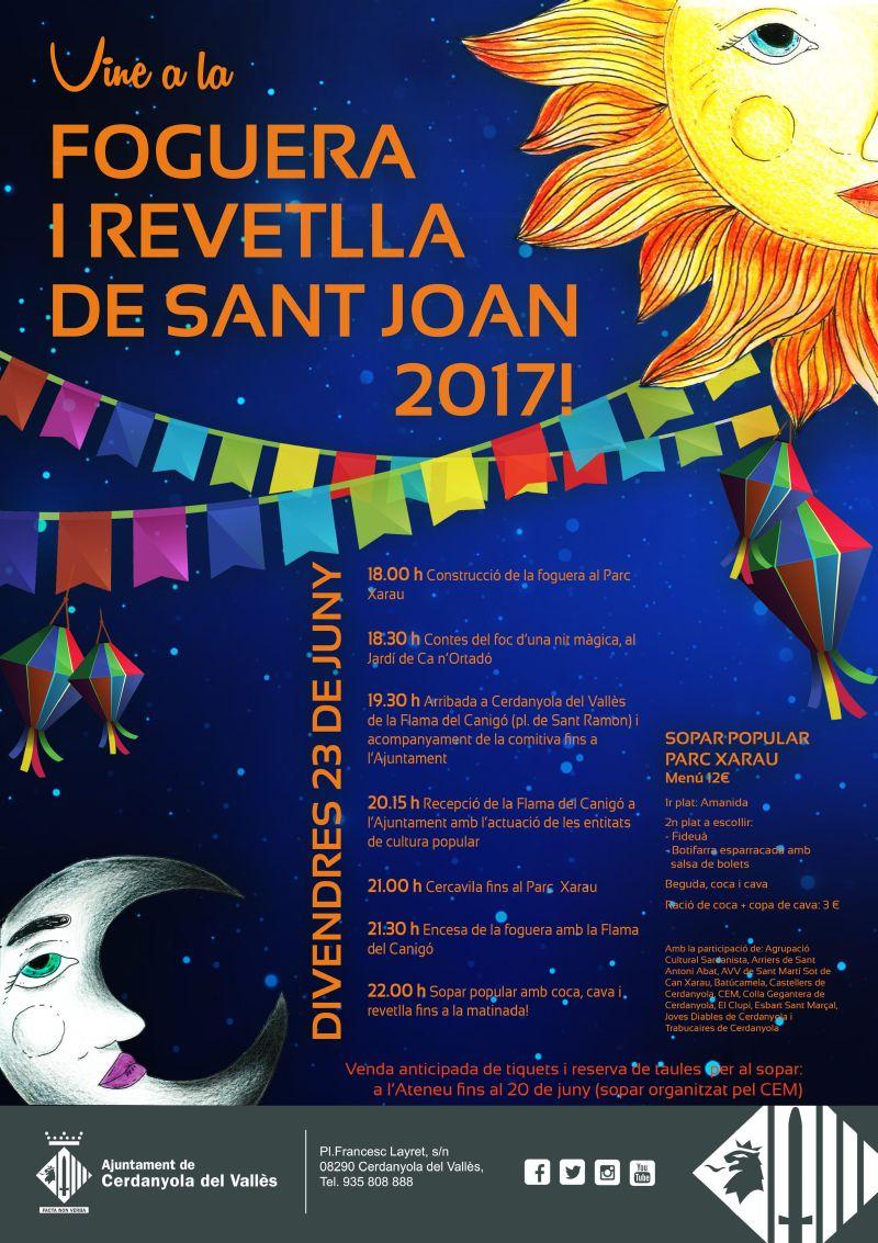Cartell de la Revetlla Popular de Sant Joan 2017