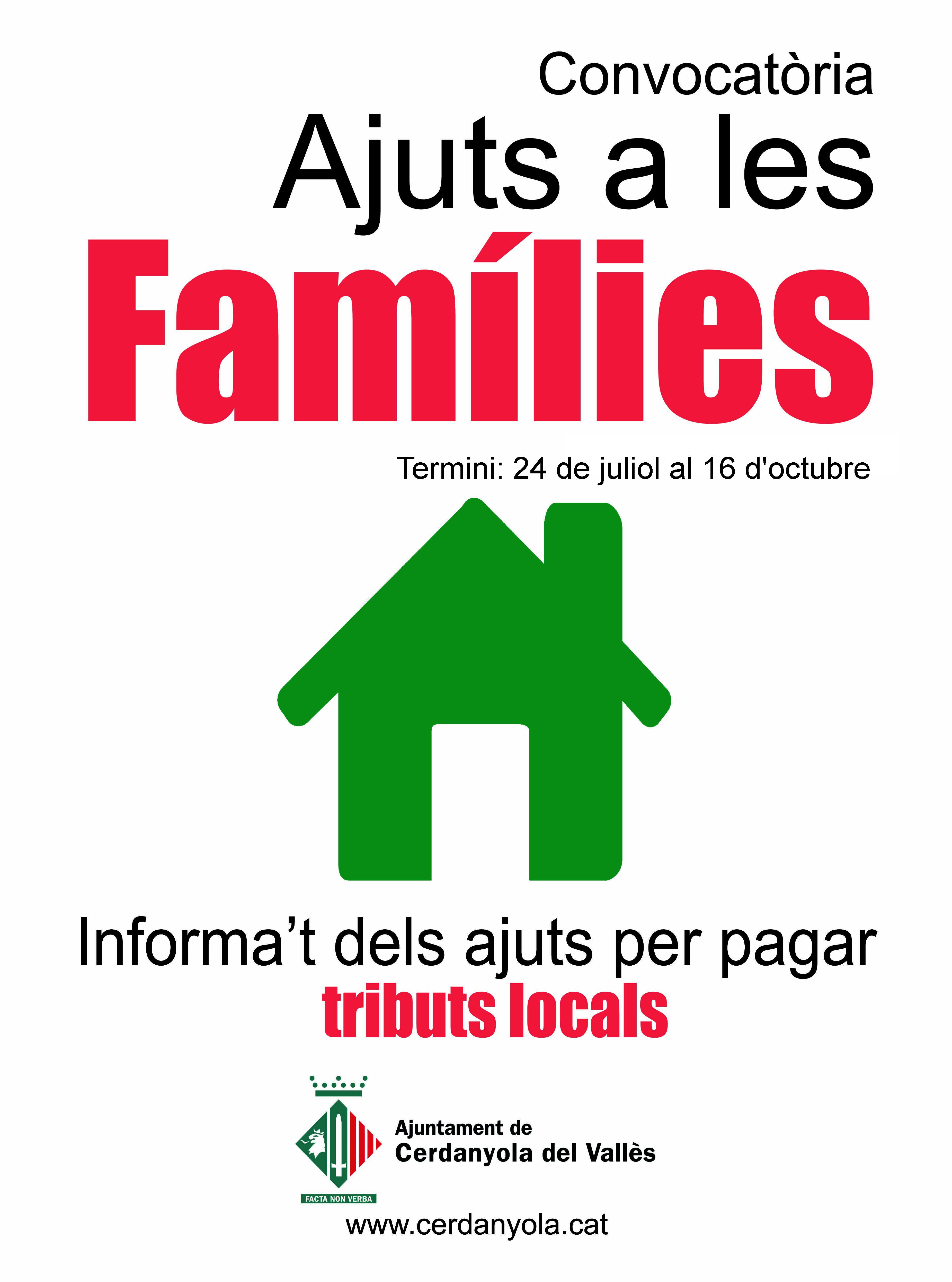 Imatge de la campanya d'ajuts a les famílies