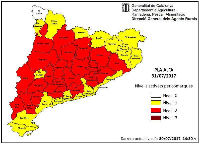 Mapa d'activació del Pla ALFA