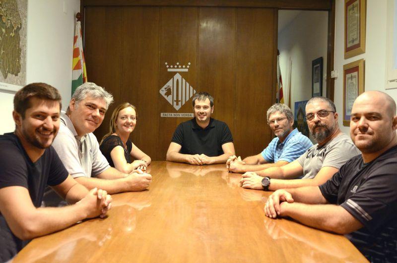 Recepció de l'Alcalde a una representació de la junta directiva del CEM Cerdanyola