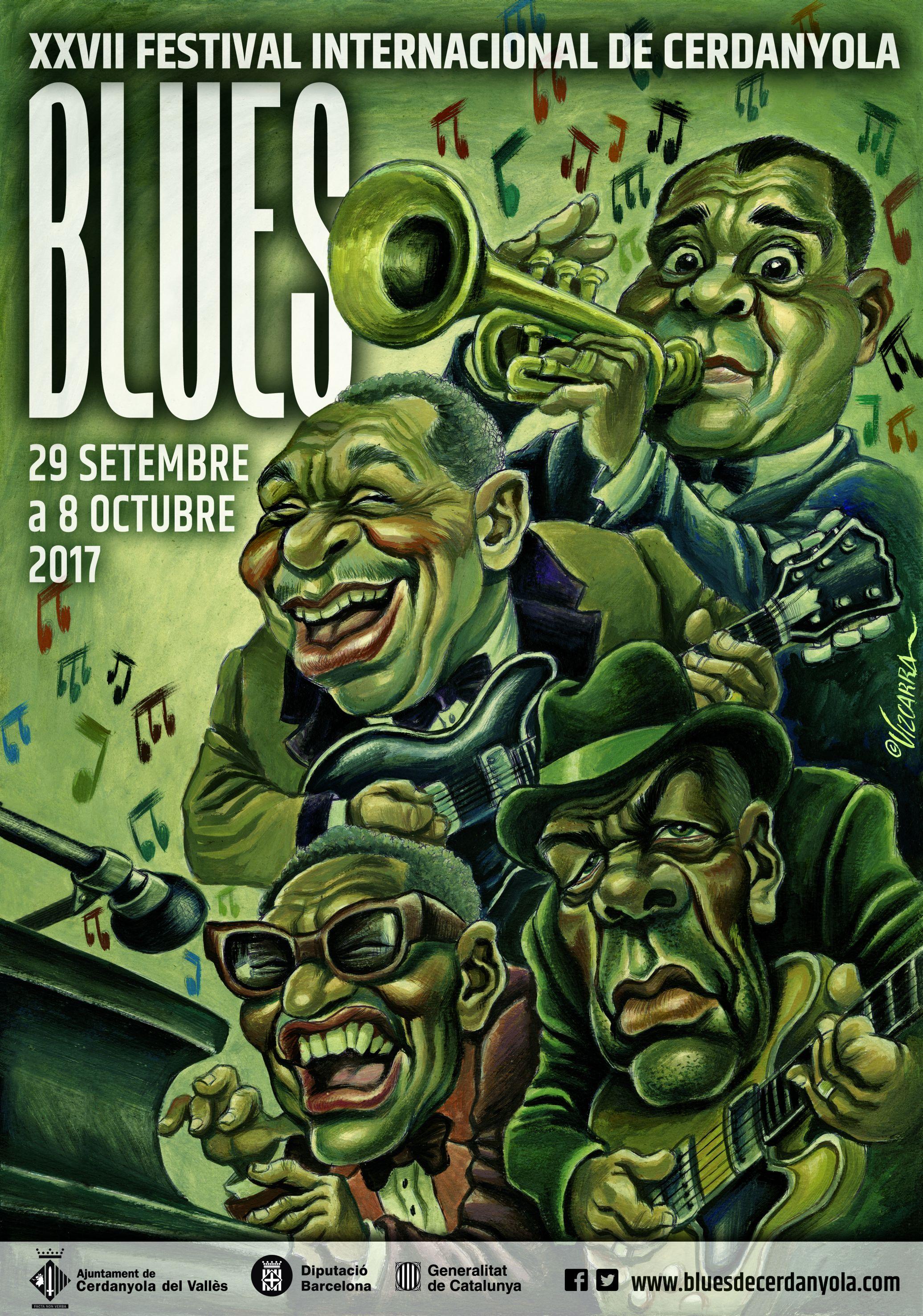 Cartell del XXVII Festival Internacional Blues de Cerdanyola del Vallès