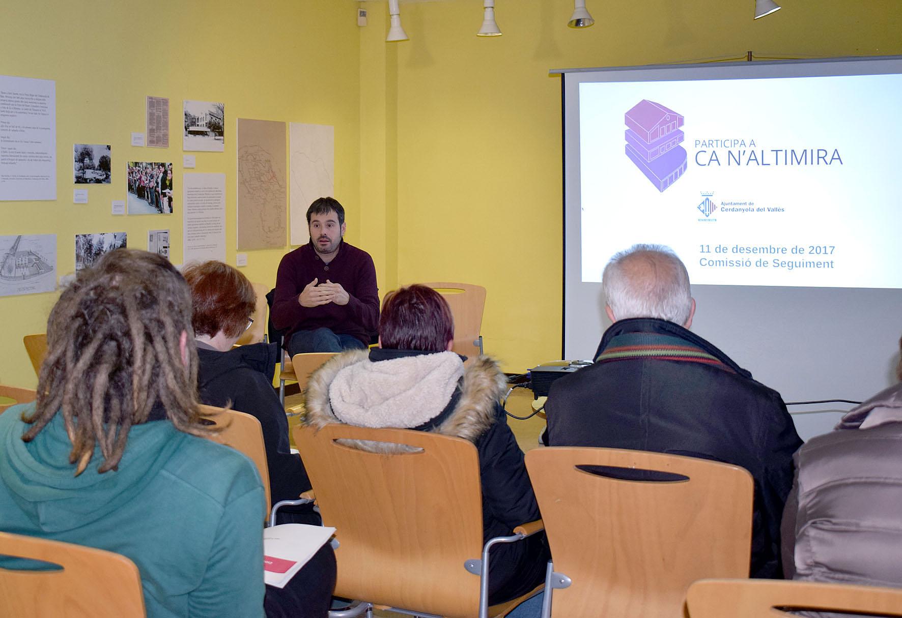 La presentació de les conclusions es va fer al mateix edifici de Ca n'Altimira
