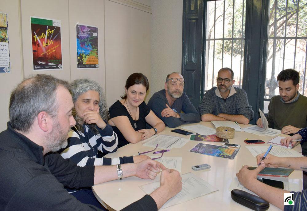 Moment de la roda de premsa de presentació de la setmana cultural d'Aulos