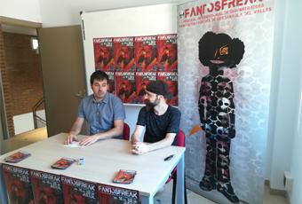 Carles Escolà i Rafa Dengrà durant la presentació del Fantosfreak