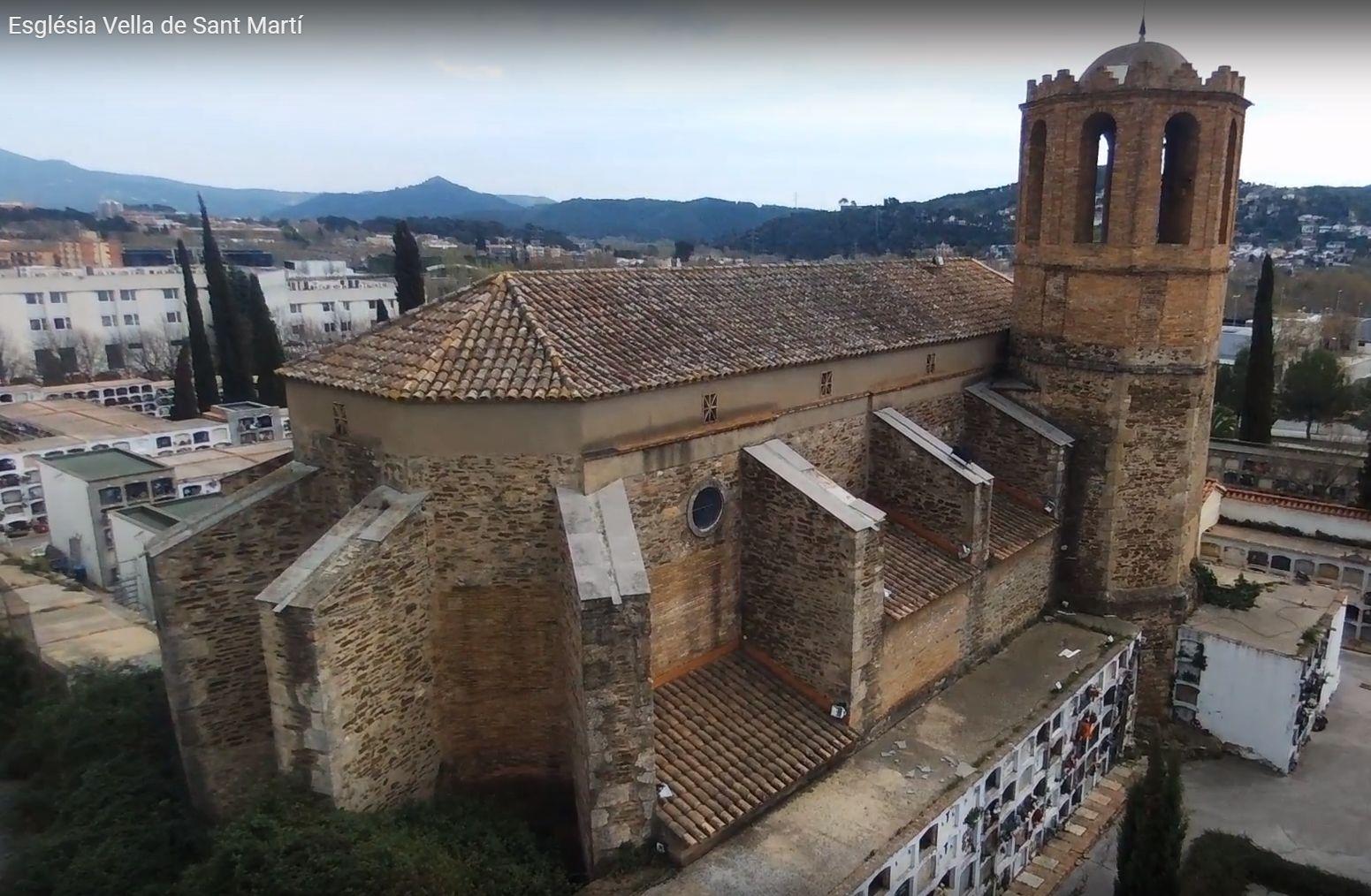 Imatge de l'Església Vella de Sant Martí, una de les parades de l'itinerari