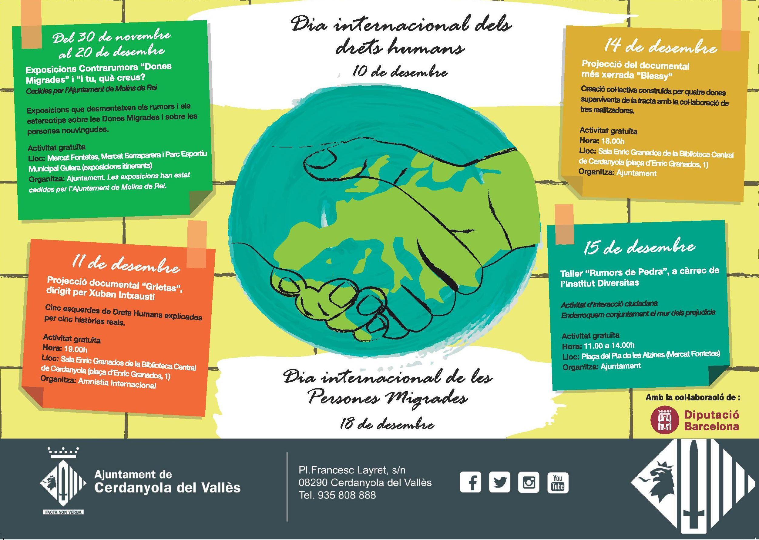 Cartell del Dies Internacionals dels Drets Humans i de les Persones Migrades