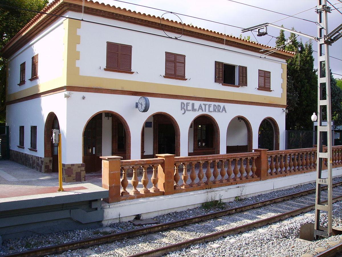 Imatge de l'estació de tren de Bellaterra