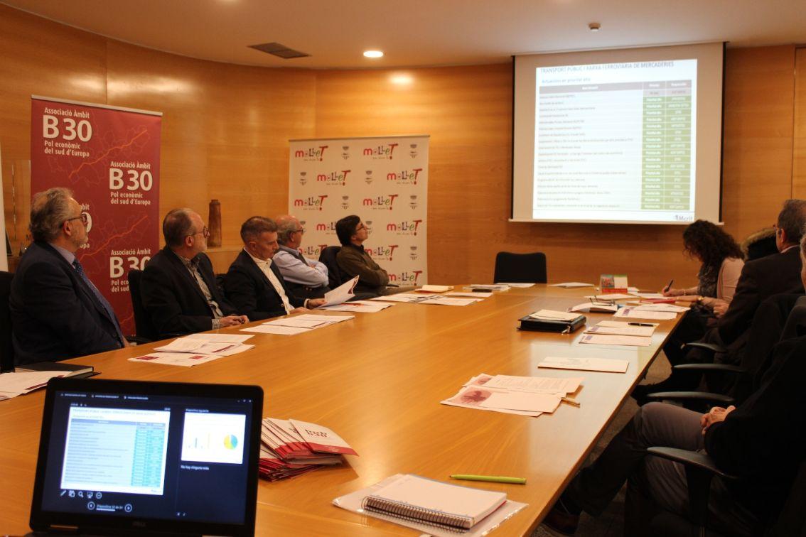 Un moment de la la reunió de la Comissió Executiva de l'Associació