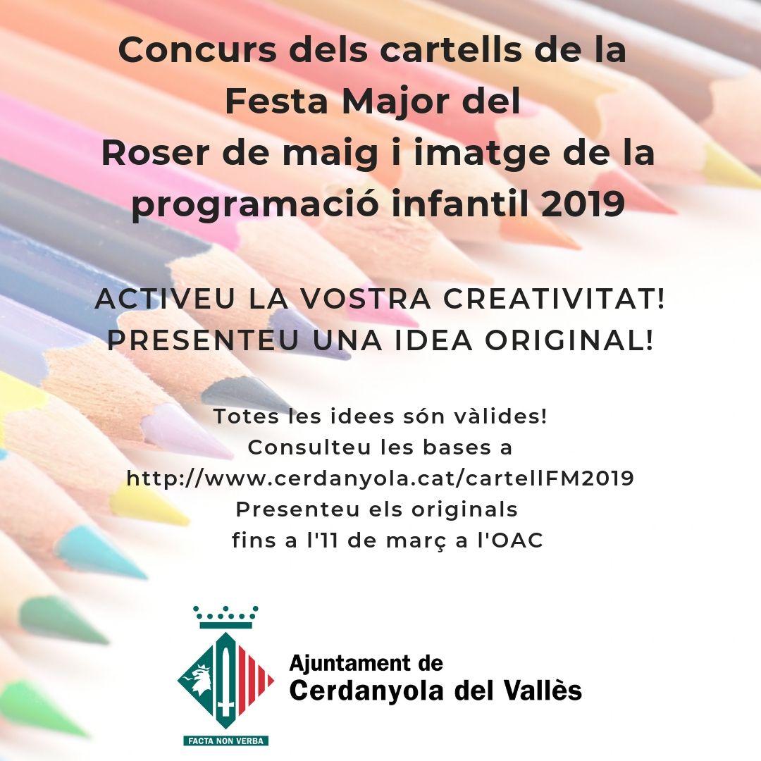 Imatge promocional concurs cartells Roser de maig 2019