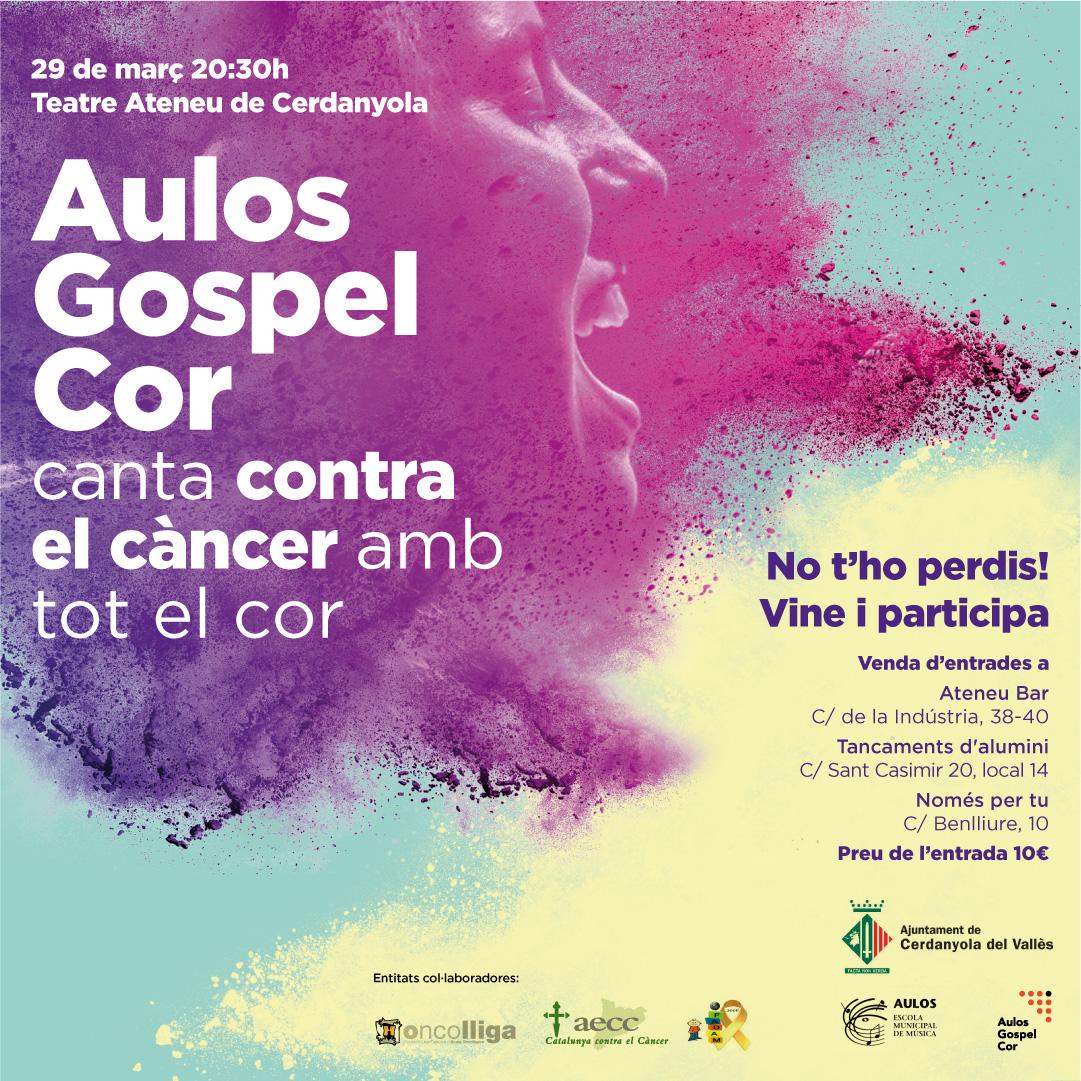 Cartell del Concert de l'Aulos Gòspel Cor