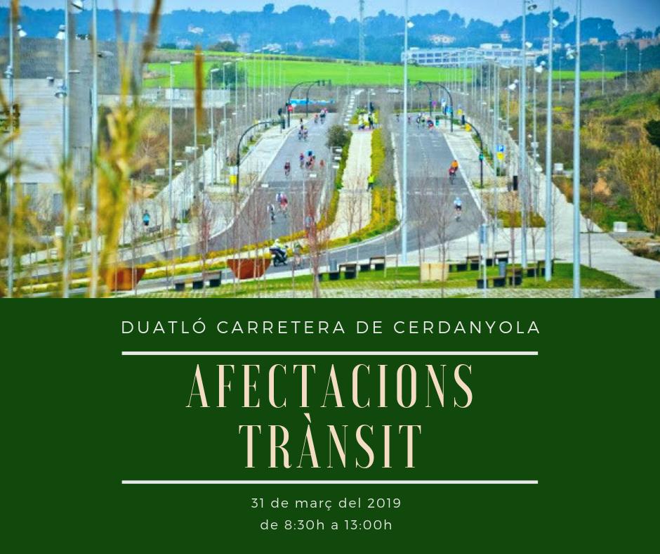 Cartell informant de les afectacions al trànsit