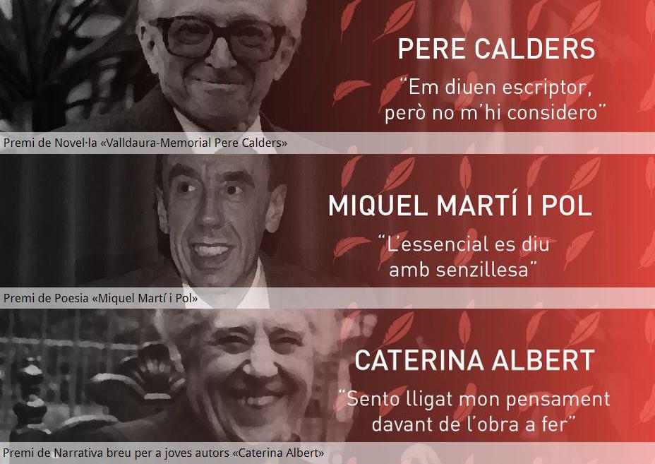 Imatge de les tres categories dels Premis Literaris