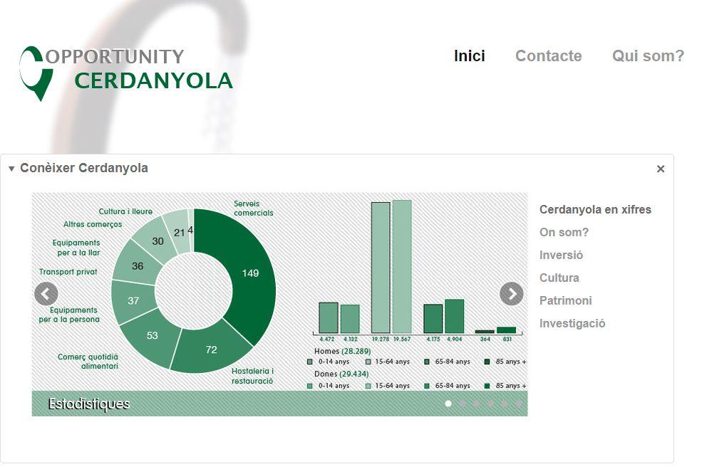 Captura de pantalla de la web Opportunity Cerdanyola