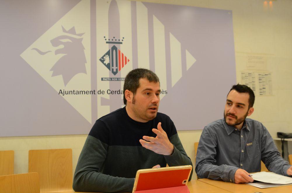 Carles Escolà i Iván González durant la roda de premsa