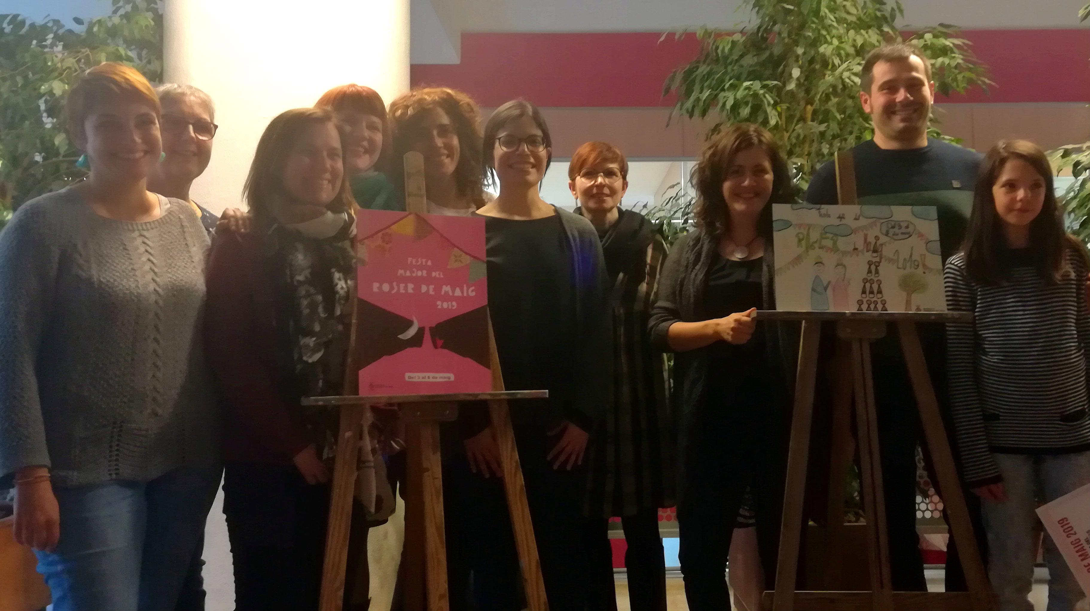 Presentació dels cartells guanyadors del Concurs de Cartells Roser de Maig