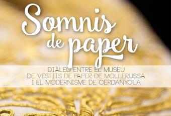 Detall del cartell de l'exposició Somnis de paper
