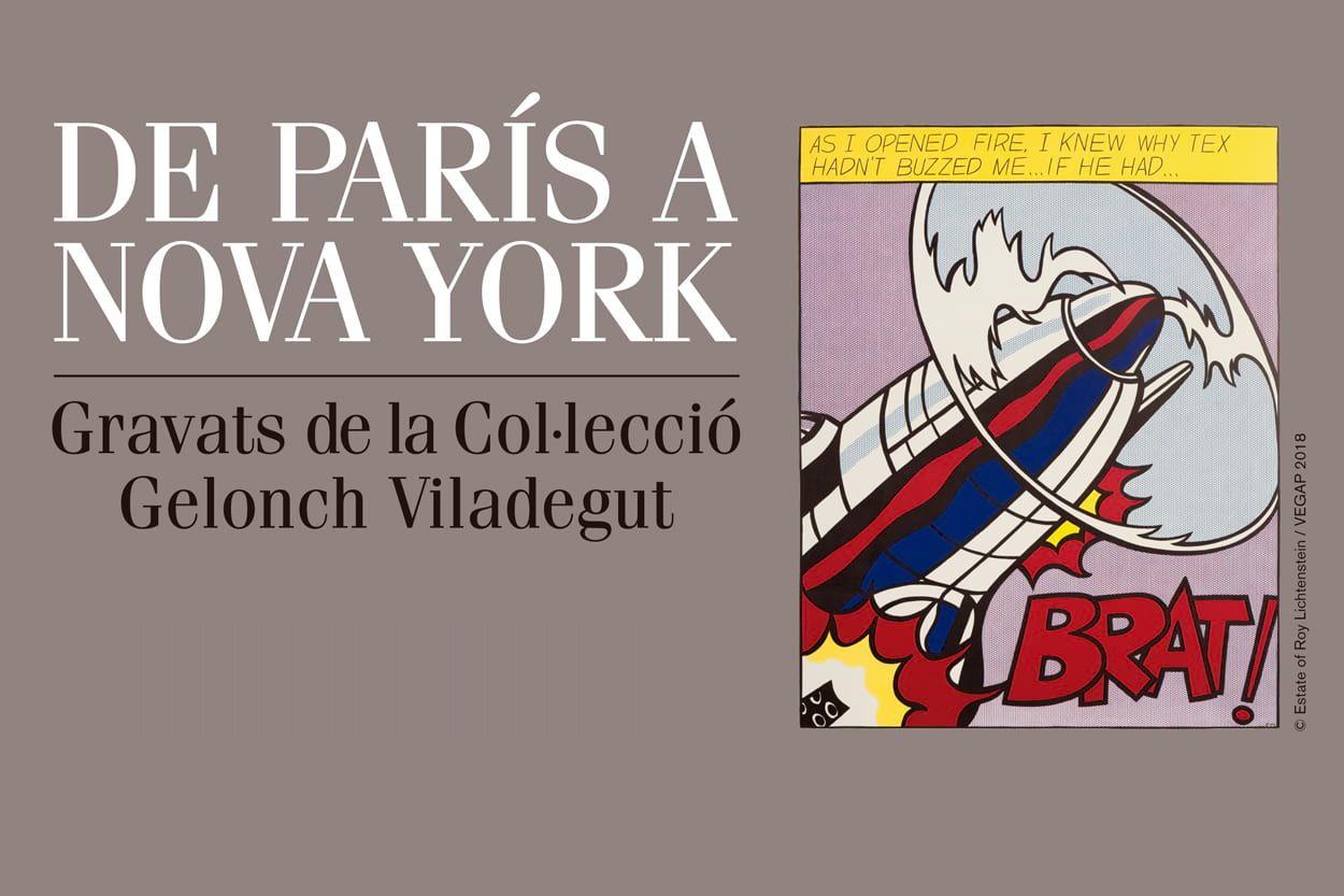 Cartell 'De París a Nova York. Gravats de la Col·lecció Gelocnh Viladegut'
