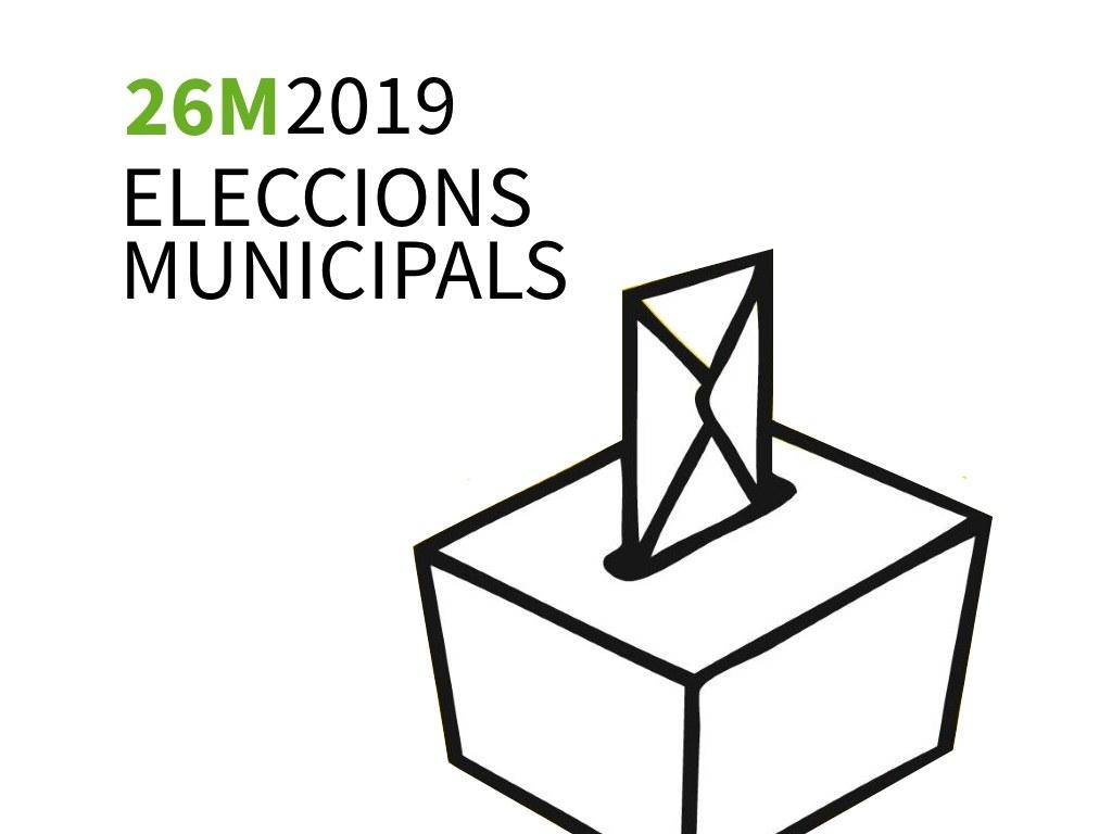 Cartell genèric de les eleccions municpals 2019