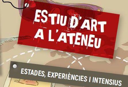 Detall del tríptic informatiu de les activitats d'estiu de l'Escola d'Arts Ateneu
