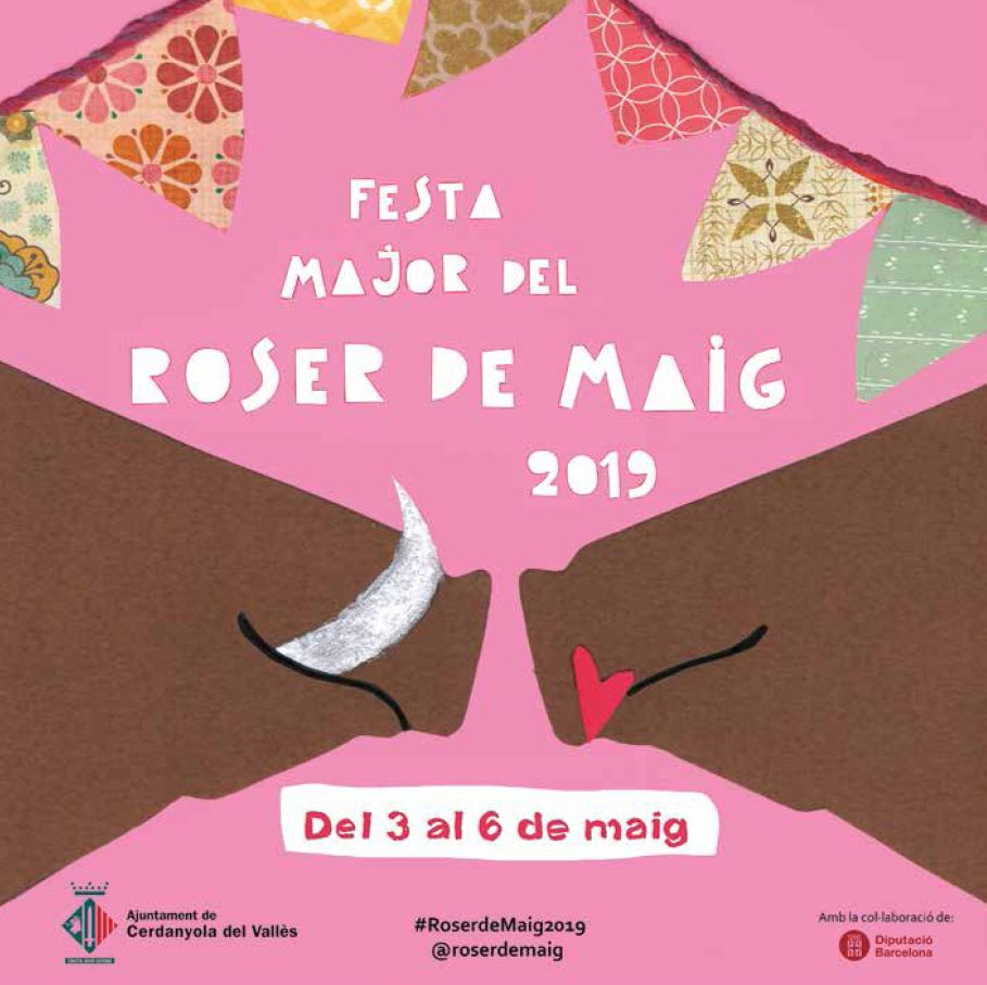 Cartell de la Festa Major del Roser de Maig 2019