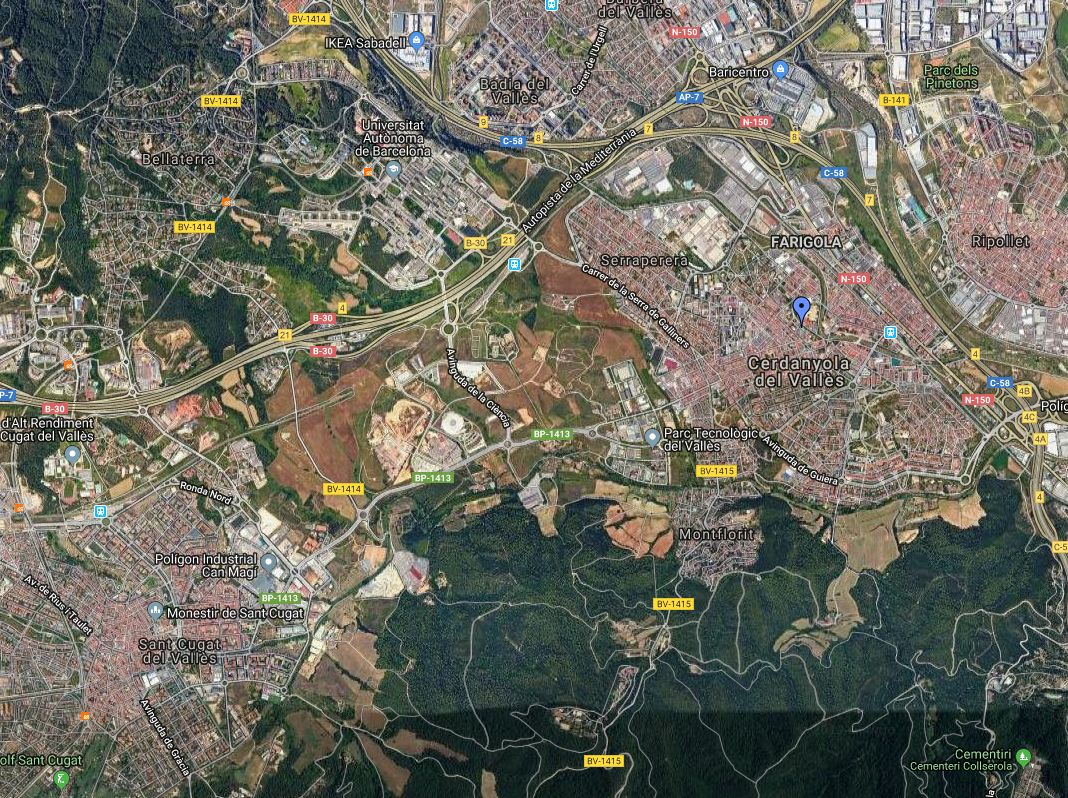 Visió aèria de la ciutat - Google Maps