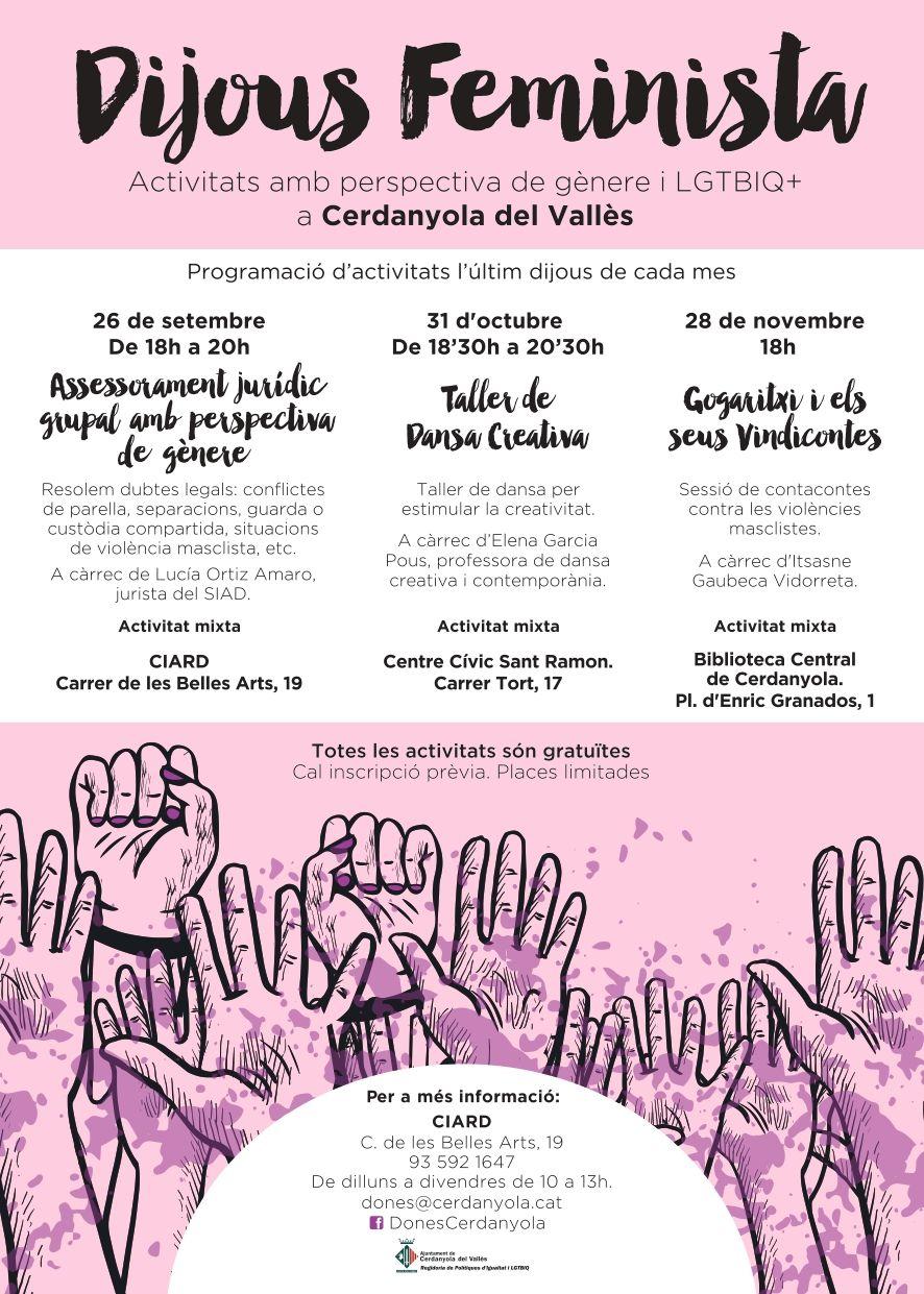 Cartell promoció Dijous Feministes