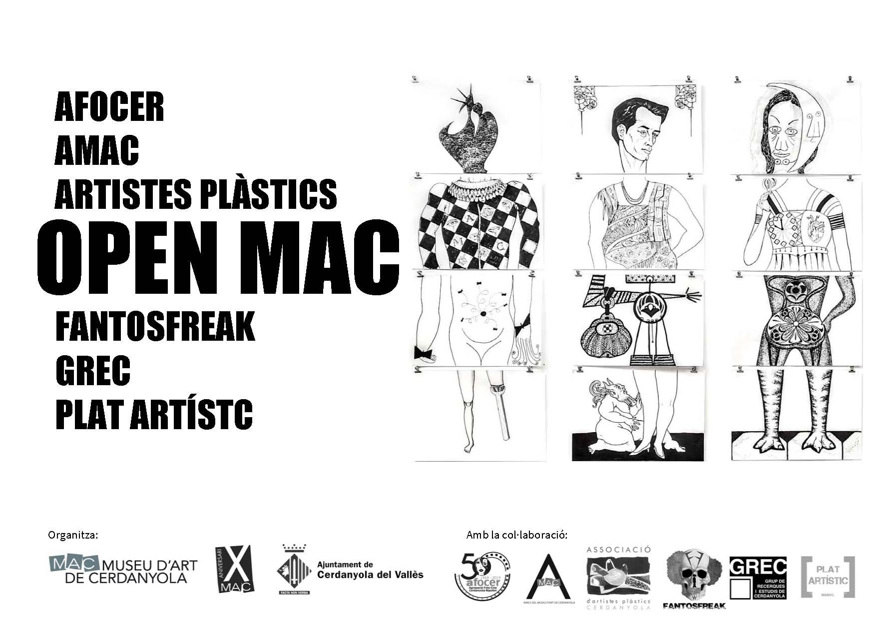 Cartell de la mostra Open MAC