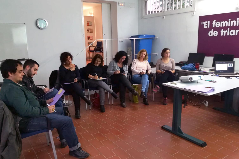 Moment del curs adreçat als regidors i regidores dels grups municipals