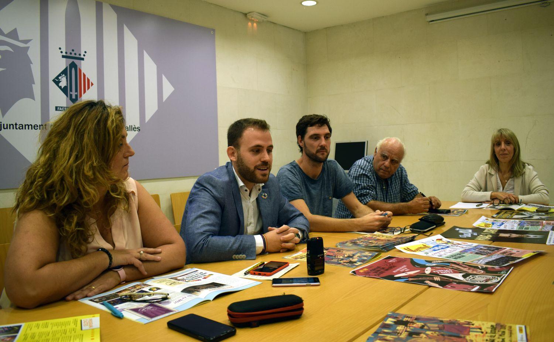Pepi Rivera, Carlos Cordón, Fèlix Heras, Ramon Capella i Elena Edo durant la presentació