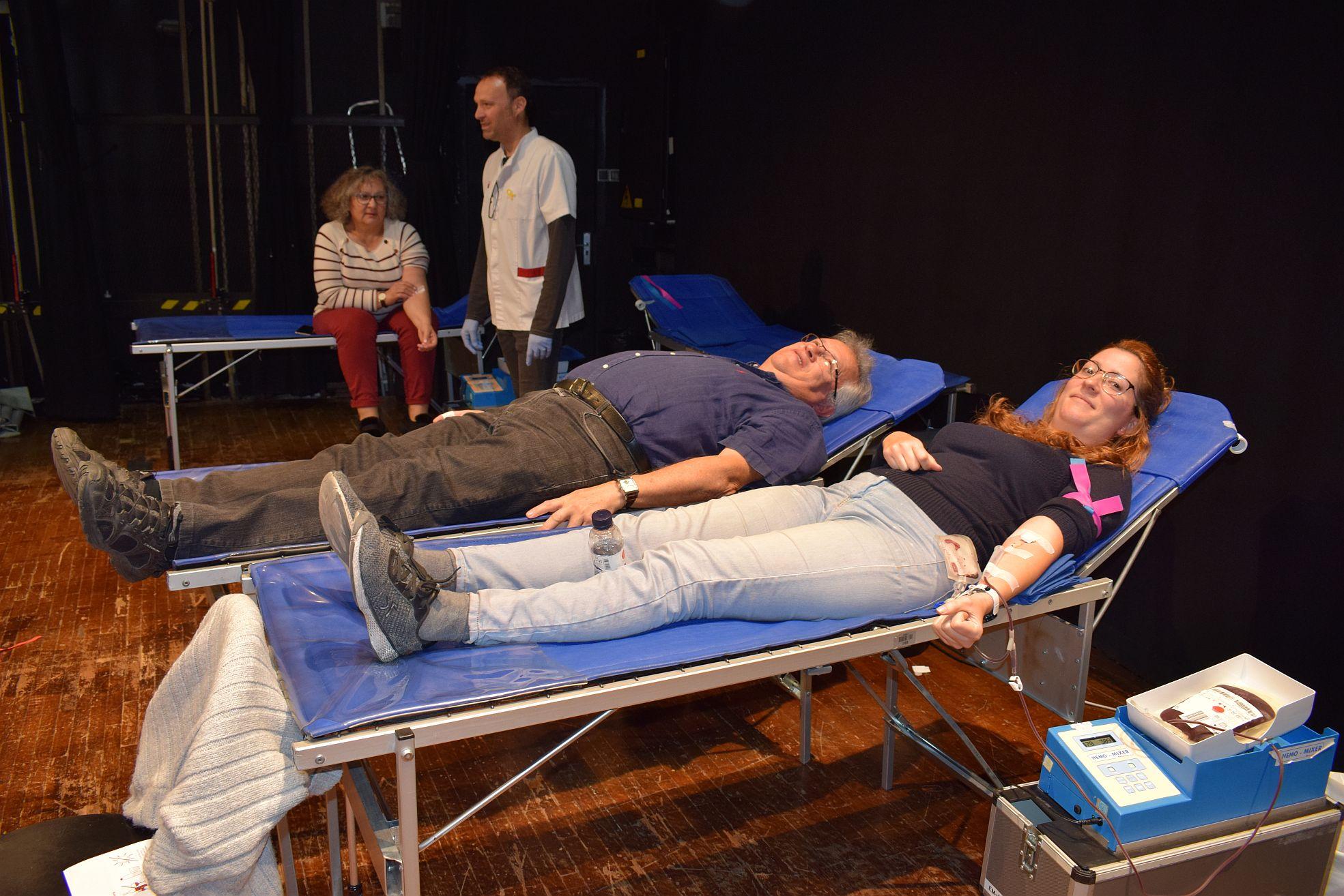 Un moment de la marató de donació de sang