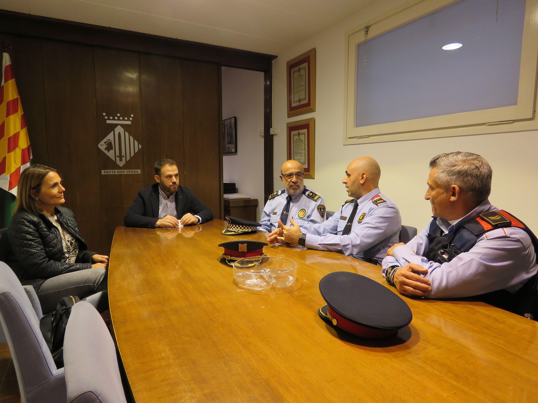 Recepció al nou cap de l'ABP de Cerdanyola del Vallès