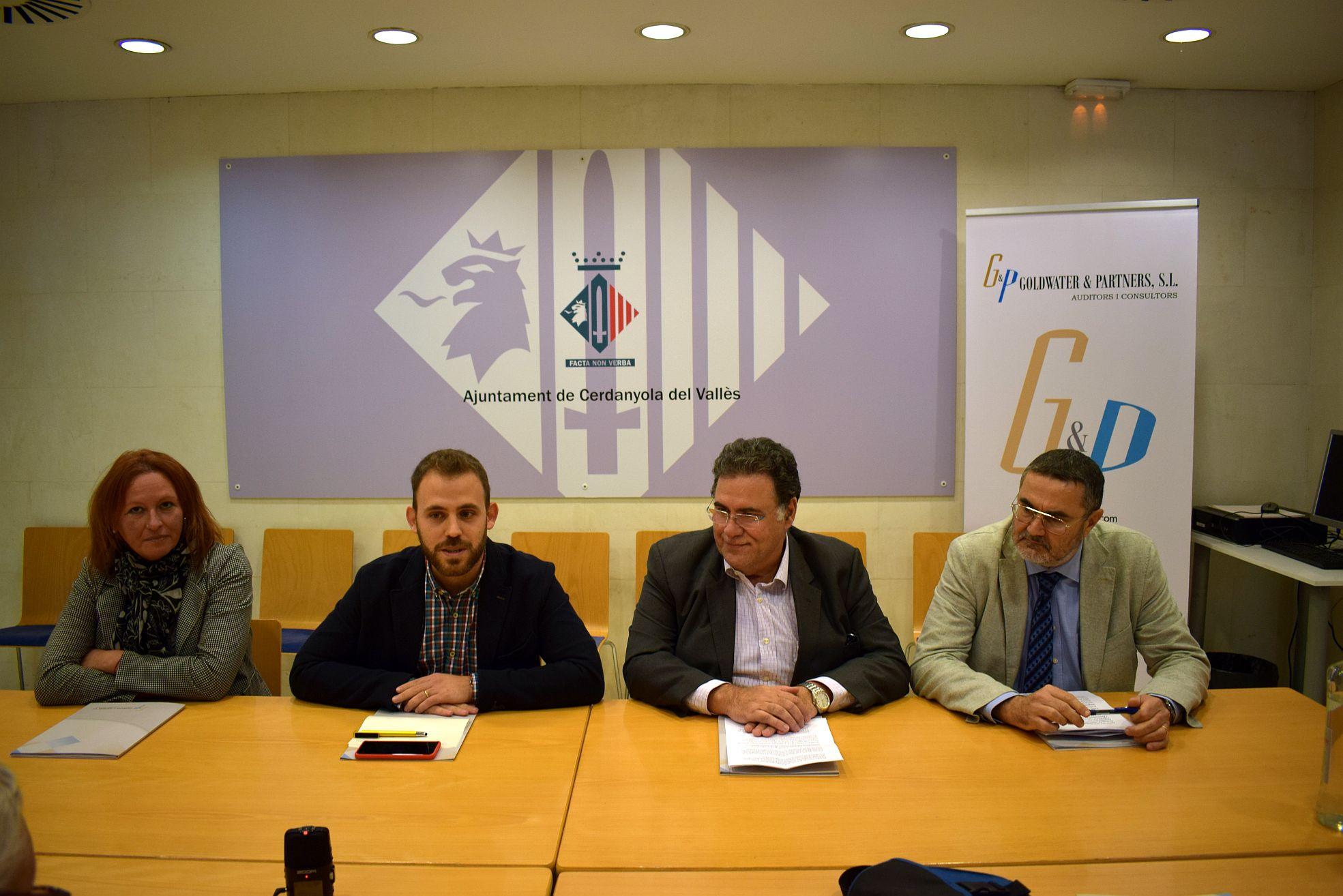Moment de la roda de premsa de presentació de Vallès Empresa