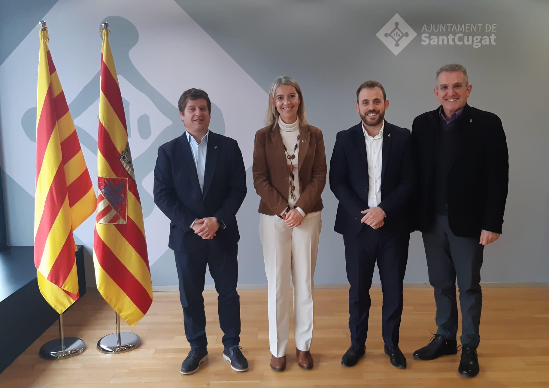 Un moment de la trobada Sant Cugat i Cerdanyola. Foto Ajuntament de Sant Cugat del Vallès