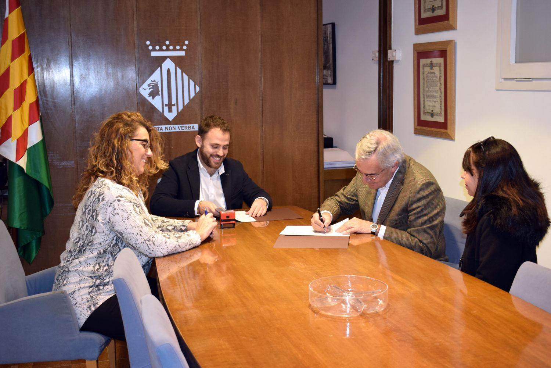 Moment de la firma del conveni
