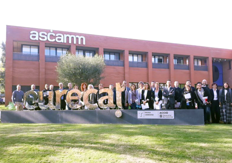 Fotografia de grup de la visita a Eurecat