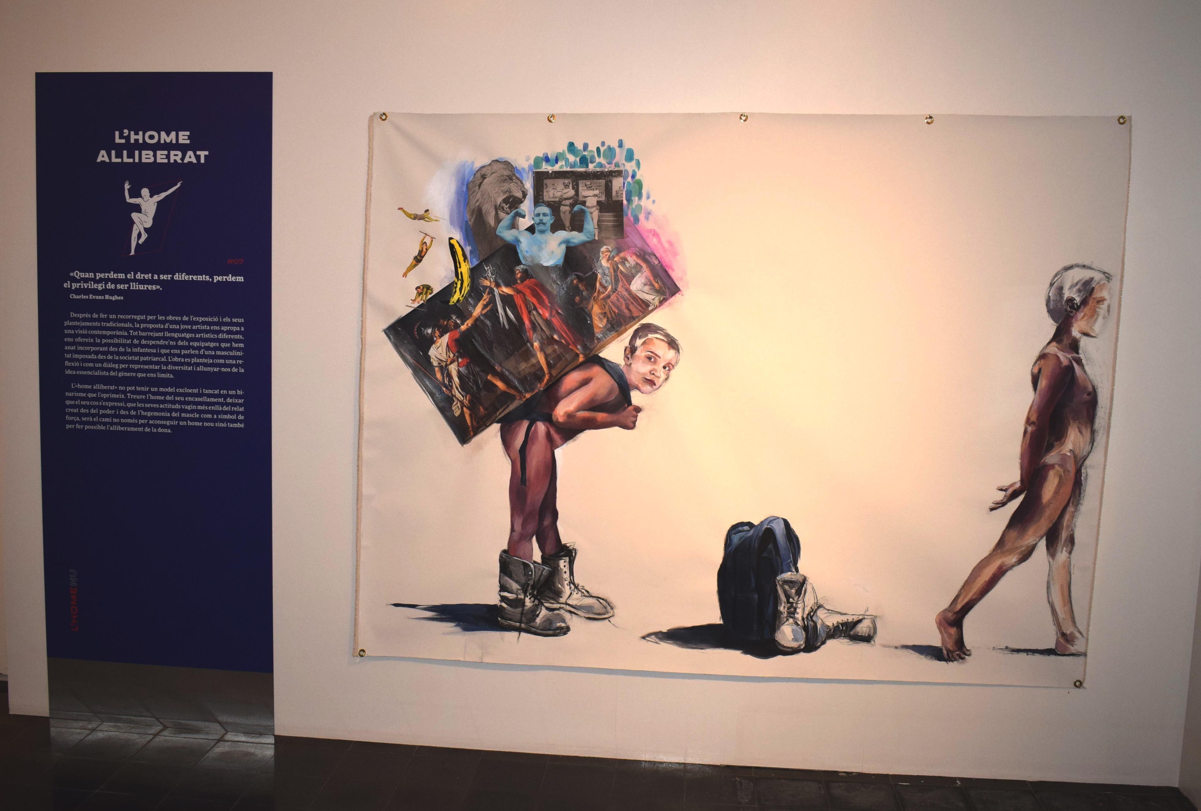 Un dels plafons de la mostra L'Home Nu