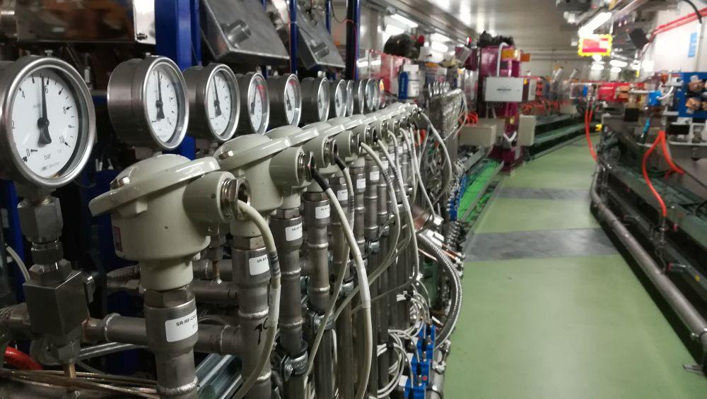 Imatge de l'interior de l'anell d'emmagatzematge del Sincrotró Alba