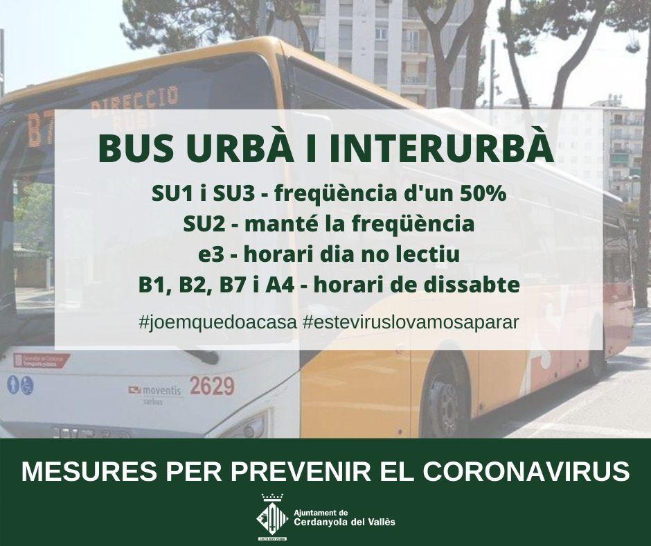 imatge freqüència de pas de les línies de bus urbanes i interurbanes